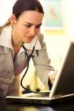 Medico del calcolatore Fotografia Stock