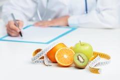 Medico del dietista Fotografie Stock