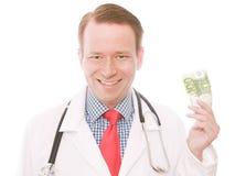 medico dell'euro 100 fotografia stock