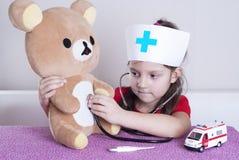 Medico della bambina fotografia stock