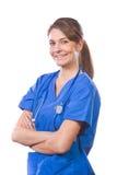 Medico della donna con le braccia attraversate Fotografie Stock