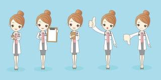 Medico della donna del fumetto royalty illustrazione gratis