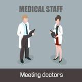 Medico della donna del personale medico Fotografie Stock Libere da Diritti