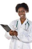 Medico della donna dell'afroamericano Fotografia Stock