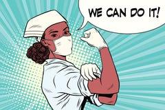 Medico della donna di colore possiamo farlo royalty illustrazione gratis