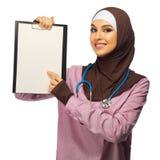 Medico della donna musulmana immagine stock