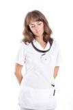 Medico della donna OTORINOLARINGOIATRICO Fotografia Stock Libera da Diritti