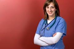 Medico della giovane donna Fotografie Stock Libere da Diritti