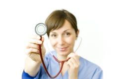 Medico della signora di Attractice Immagini Stock