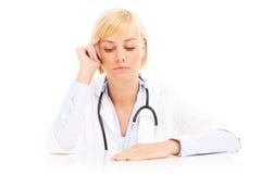 Medico depresso immagini stock