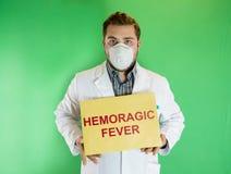 Medico di ebola Immagine Stock