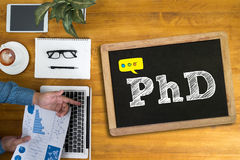 Medico di PhD della graduazione di istruzione di grado di filosofia Fotografie Stock Libere da Diritti