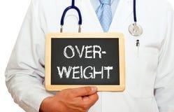 Medico dice che siete di peso eccessivo Immagini Stock