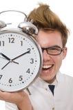 Medico divertente con la sveglia Immagini Stock