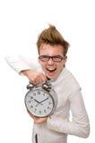 Medico divertente con la sveglia Fotografia Stock Libera da Diritti