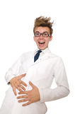 Medico divertente isolato Fotografie Stock