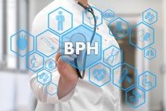 Medico e BPH, parole prostatiche benigne di iperplasia in me fotografia stock libera da diritti