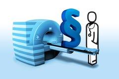 Medico e paragrafo in radiologia Immagine Stock