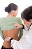 Medico e paziente Immagini Stock