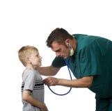 Medico e paziente Fotografie Stock