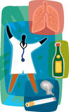 Medico e polmoni sani Fotografie Stock