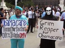 Medico e Reaper torvo Fotografia Stock