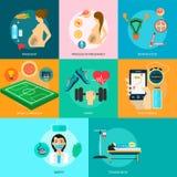Medico e sano illustrazione vettoriale