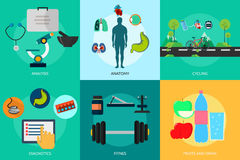 Medico e sano Immagine Stock