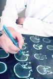 Medico e tomografia immagini stock