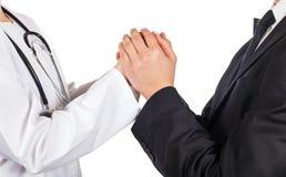 Medico ed avvocato Fotografia Stock