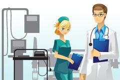 Medico ed infermiera illustrazione vettoriale