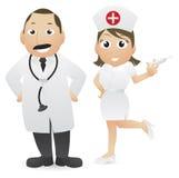Medico ed infermiera Immagini Stock