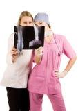 Medico ed infermiera sul job Immagine Stock Libera da Diritti