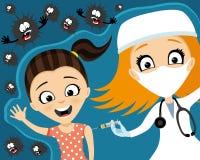 Medico fa la vaccinazione royalty illustrazione gratis