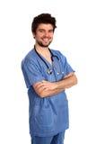 Medico felice fotografia stock