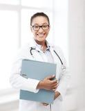 Medico femminile africano in ospedale Fotografie Stock