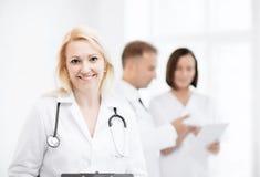 Medico femminile con lo stetoscopio Fotografia Stock Libera da Diritti