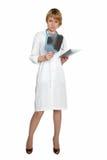 Medico femminile Pensive Immagini Stock