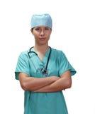 Medico femminile sicuro Immagini Stock