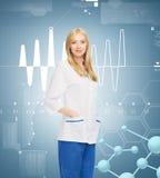 Medico femminile sorridente Fotografie Stock