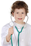 Medico futuro adorabile Fotografie Stock Libere da Diritti