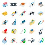 Medico icons set, isometric style. Medico icons set. Isometric set of 25 medico vector icons for web  on white background Royalty Free Stock Image