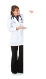 Medico: Il dottore Gestures per soppressione area Immagine Stock