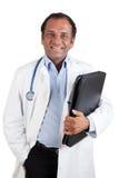 Medico indiano con il dispositivo di piegatura Immagine Stock