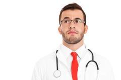 Medico infelice Fotografia Stock
