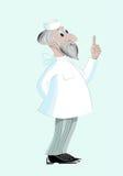 Medico invecchiato in uniforme medica Immagini Stock