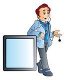 Medico maschio, illustrazione Fotografia Stock Libera da Diritti