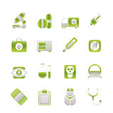 Medico, ospedale ed icone di sanità Fotografie Stock