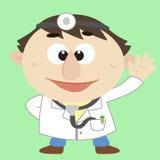 Medico, personaggio dei cartoni animati, illustrazione di vettore Fotografie Stock