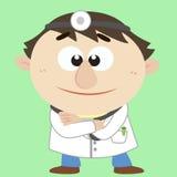 Medico, personaggio dei cartoni animati, illustrazione di vettore Immagini Stock